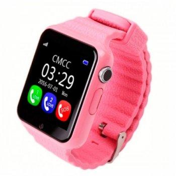 Дитячі розумні смарт годинник телефон c GPS Baby Smart Watch Supero Original V7K-Pink Gps
