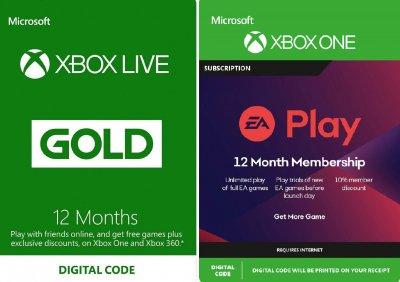 Підписка Xbox Live Gold + Ea Play (Ea Access) - 12 Місяців | Всі країни
