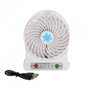 Міні-вентилятор Portable Fan Mini Білий