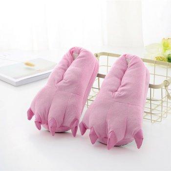 Плюшевые тапочки игрушки Коготки розовые My kigu