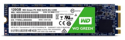 Накопичувач SSD 120GB WD Green M. 2 2280 SATAIII TLC (WDS120G2G0B)