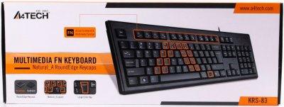 Клавіатура дротова A4Tech KRS-83 USB Black (4711421811071)