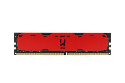 Модуль пам'яті DDR4 8GB/2400 GOODRAM Iridium Red (IR-R2400D464L15S/8G)