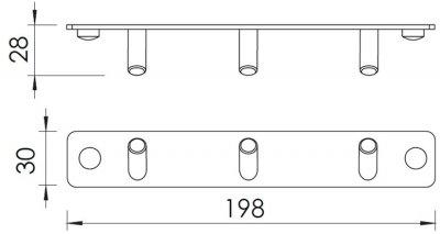 Крючок тройной IMPRESE Hranice 100111