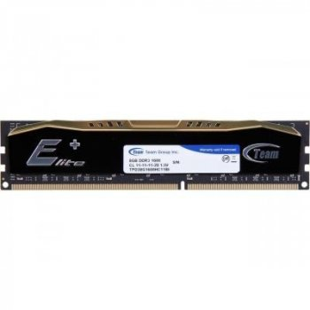 Модуль памяти для компьютера DDR3 8GB 1600 MHz Elite Plus Black Team (TPD38G1600HC1101)