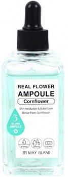 Ампульная сыворотка с лепестками василька May Island Real Flower Ampoule Cornflower 100 мл (8809515400501)