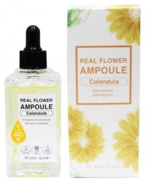 Успокаивающая сыворотка для лица с календулой May Island Real Flower Ampoule Calendula 100 мл (8809515400495)