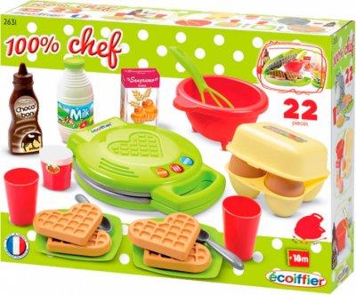 Набор Ecoiffier Chef Вафельница с посудой и продуктами (2631) (3280250026310)