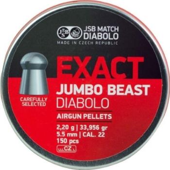 Пули пневм JSB Exact Jumbo Beast 5,52 мм , 2,2 г, 150 шт/уп