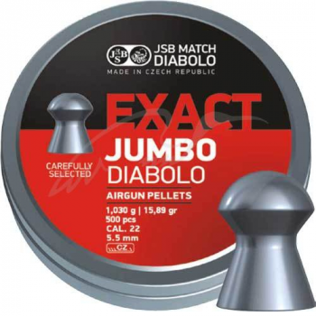 Кулі пневм JSB Exact Jumbo, 5,52 мм , 1,03 г, 500 шт/уп