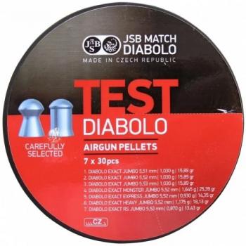 Пули пневм JSB Exact Test 5,5 мм , 210 шт/уп