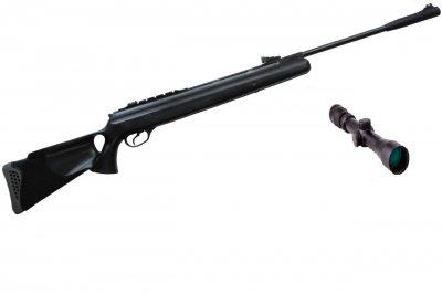 Пневматична гвинтівка Hatsan 125 TH з посиленою газовою пружиною 3-9х32 Sniper AR