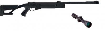 Пневматична гвинтівка Hatsan AirTact з посиленою газовою пружиною 3-9×40 Sniper AR