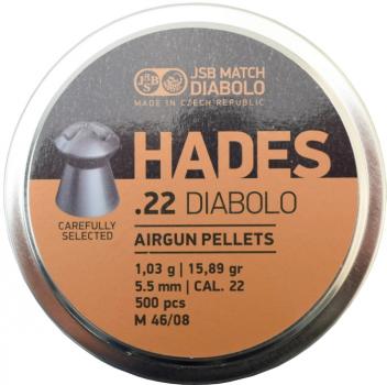 Пули пневм JSB Hades 5,5 мм , 1,03 г, 500 шт/уп