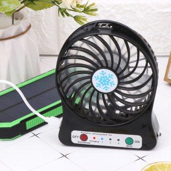 Міні-вентилятор Portable Fan Mini настільний 3 швидкості, Чорний