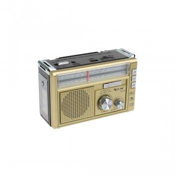 Радіоприймач акумуляторний GOLON RX-382BT Золотий з Bluetooth і ліхтариком