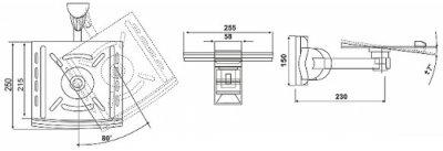 Кронштейн для колонок Electriclight AVA-01-25M