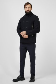 Мужское черное пальто Replay M8109 .000.83828