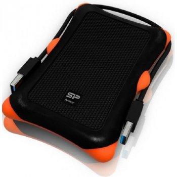 Зовнішній жорсткий диск Silicon Power Armor A30 чорний з оранжевим