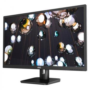 """Монітор AOC 27"""" 27E1H IPS Black; 1920x1080, 250 кд/м2, 5 мс, D-Sub, HDMI"""