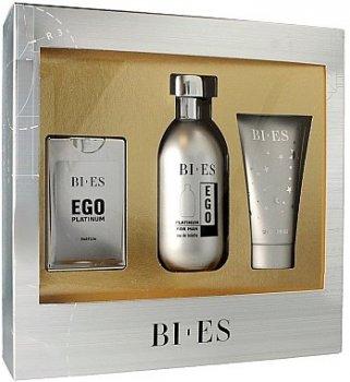 Мужская парфюмерия Набор (edt/100ml + edp/15ml + sh/gel/50ml) Bi-Es Ego Platinum man (5907554491504)