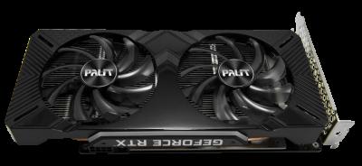 Palit PCI-Ex GeForce RTX 2060 Dual OC 6GB GDDR6 (192bit) (1365/14000) (DVI, HDMI, DisplayPort) (NE62060S18J9-1160A)