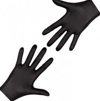 Перчатки чёрные Nitrylex Black нитриловые неопудренные L RD30104004