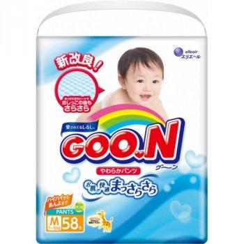 Трусики-підгузки GOO.N для дітей 7-12 кг (розмір M, унісекс, 174 шт)