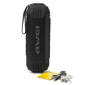 Портативная влагозащищенная Bluetooth колонка функция Power Bank 4000 мА Awei Y280 черный