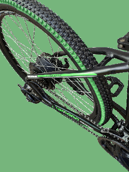 """Електровелосипед MAKE 36V 12Ah 500W рама 17""""/ 26"""" чорно-зелений (MAKE36V125001726BG)"""