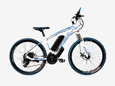 "Електровелосипед MAKE 36V 12Ah 500W рама 17""/ 26"" біло-синій (MAKE36V125001726WB)"