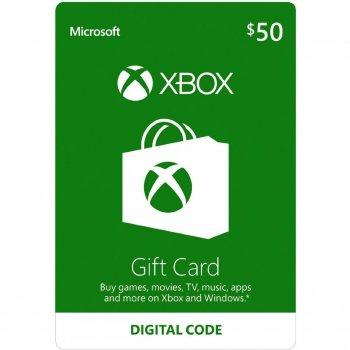 Подарочная карта Xbox Live / Gift Card пополнение бумажника счета своего аккаунта на сумму 50 usd US-регион