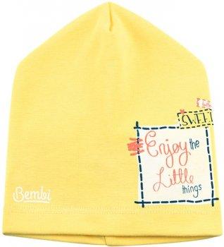 Демисезонная шапка Бемби SHP83 25083021619.500 46-47 см Желтая (4823101630022)