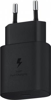 Мережевий зарядний пристрій Samsung 25 W Travel Adapter Black (EP-TA800NBEGRU)
