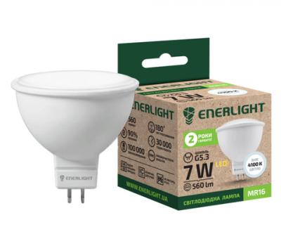 Світлодіодна лампа ENERLIGHT МR16 7W 4100K GU5.3