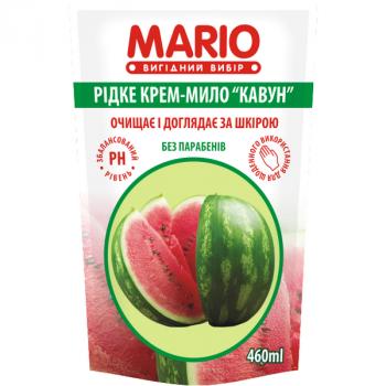 Жидкое крем-мыло MARIO 460мл (дой-пак) Арбуз