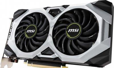 MSI PCI-Ex GeForce RTX 2060 Ventus OC 6GB GDDR6 (192bit) (1710/14000) (3 x DisplayPort, 1 x HDMI) (RTX 2060 VENTUS 6G OC)