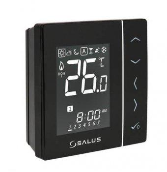 Цифровой регулятор температуры Salus 4в1, черный, 230V совместим с устройствами серии iT600 Communic (VS10B)