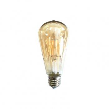 Лампа Едісона Azzardo Lampa Deko E27 6W Smoke Glass (Ll127064)