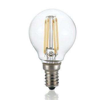 Світлодіодна лампа Ideal Lux Classic E14 4W Sfera Trasp 3000K Dimmer (188935)
