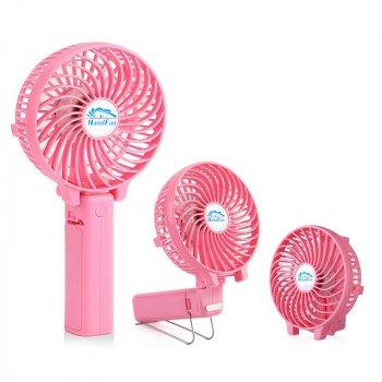 Вентилятор ручної акумуляторний Plymex HF-308 Рожевий (mn-54)