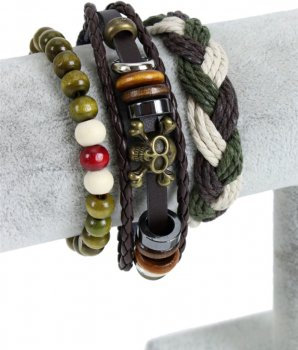 Набор браслетов Traum 4221-04 3 шт Зеленые (4820004221043)