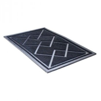 Придверні килимок з бортом гумовий Ромб YPR ДО-5 35х55см