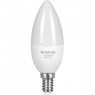 Лампа Maxus LED C37 CL-F 6 Вт E14 4100K (NL30529487)