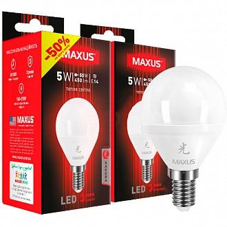 Лампа світлодіодна Maxus Sakura 2-LED-644 2шт./уп. 5 Вт G45 F E14 4100 K (NL30529763)