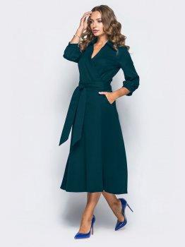Плаття Dressa 19802 Темно-зелене