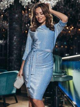 Плаття Dressa 42759 Блакитне