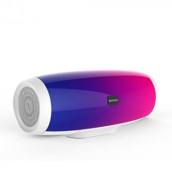 Портативная Bluetooth колонка SODO L1-LIFE White 16 режимов LED подсветки