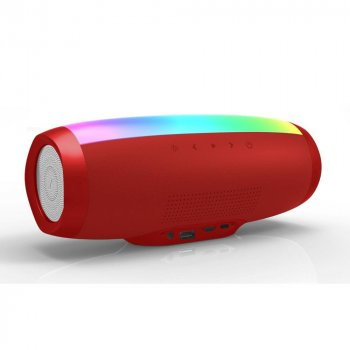 Портативная Bluetooth колонка SODO L1-LIFE RED 16 режимов LED подсветки
