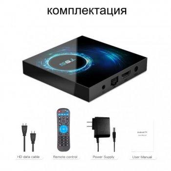 Смарт ТВ приставка T95 H616 4-32GB + пульт Air Mouse G10S Pro c гироскопом и микрофоном + Настройка в подарок Android TV